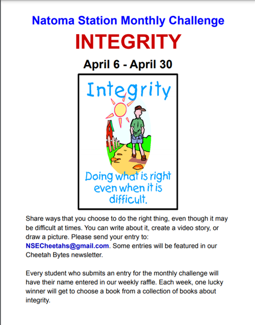 INTEGRITY CHALLENGE FOR APRIL 2021